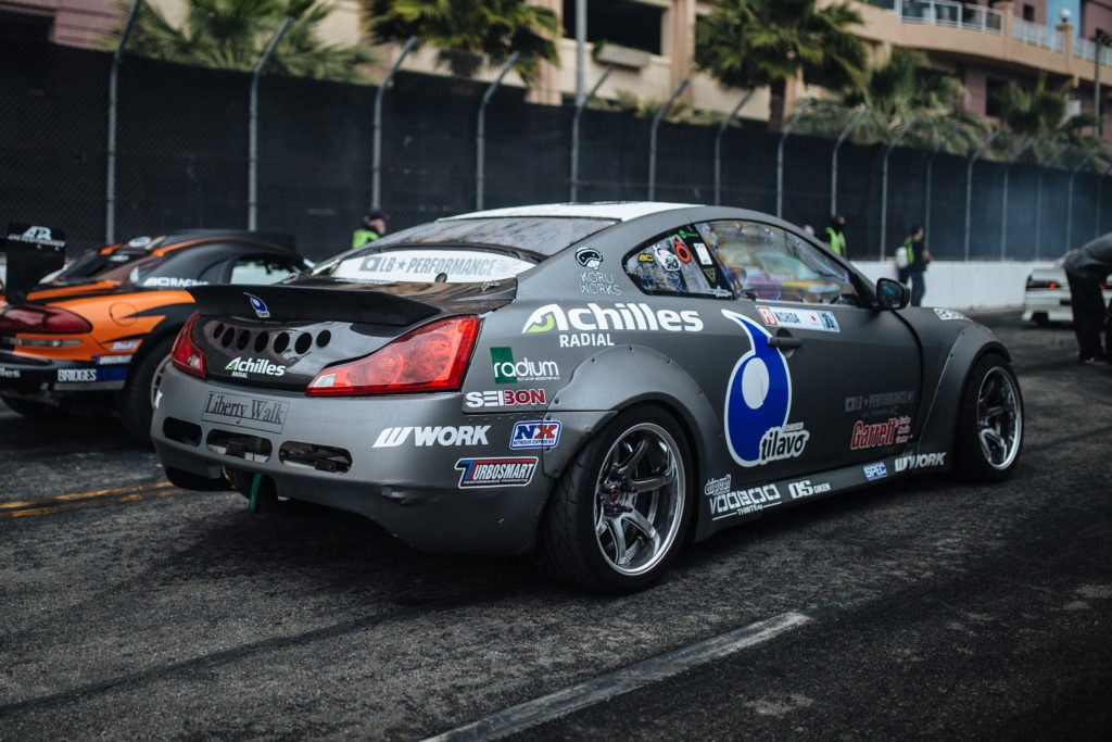Robbie Nishida Infiniti G37 Formula Drift Car equipped with Voodoo13 Suspension arms